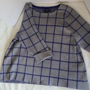 Cynthia Rowley woman windowpane check swea…